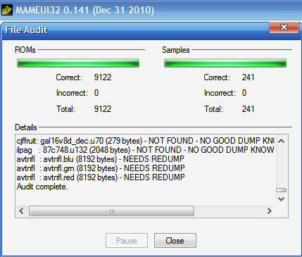 YourForum -> Mame32 0 141 Full Set, Updating
